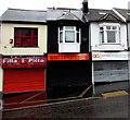 ST0790 : Three shuttered businesses in  Bridge Street,  Pontypridd by Jaggery