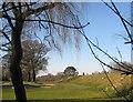 TQ2295 : Arkley: Arkley Reservoir Triangulation Pillar by Nigel Cox