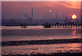 SU4705 : Sunset over Southampton Water by Ian Taylor