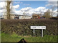TM0276 : Gobbetts Lane sign by Adrian Cable
