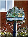 TM0276 : Hinderclay Village Sign by Adrian Cable