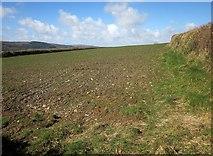 SX2975 : Arable field near Half Acre Farm by Derek Harper