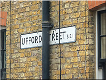 TQ3179 : Road sign for Ufford Street, London SE1 by Christine Matthews