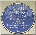 TQ2682 : Blue plaque of Alan Turing by David Anstiss
