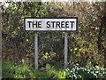 TM0477 : The Street sign by Adrian Cable