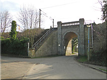 TM1542 : Arch under the railway at Bourne Park by Adrian S Pye