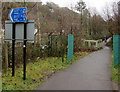 ST0889 : Left ahead to stay on the Taff Trail, Pontypridd by Jaggery