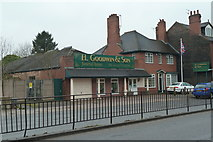 SJ8545 : Newcastle-under-Lyme: funeral home on London Road by Jonathan Hutchins