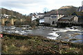 SJ2142 : River Dee and former mill from Llangollen Station by Chris Allen