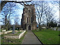 TQ4282 : St Mary Magdalene Churchyard, East Ham by Marathon