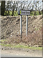TM0676 : Roadsign on the A143 Bury Road by Adrian Cable