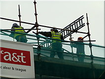 H4572 : Construction workers, Supervalu site, Omagh by Kenneth  Allen