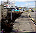 ST1283 : Park and Ride sign, Taffs Well by Jaggery