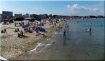 SY6879 : North along the strand, Weymouth Beach by Jaggery