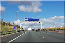 SE4728 : A1(M) - junction 42 in 1/2 mile by Robin Webster