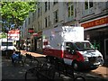 SP0686 : Please give blood – van in position for donors, 08:42, New Street, Birmingham by Robin Stott