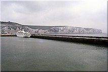 TR3341 : Dover Harbour by Peter Jeffery