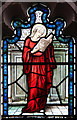 TQ2471 : St Mary, Wimbledon - Stained glass window by John Salmon