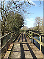 SU5766 : Footbridge over the River Kennet by Adrian Cable