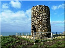 NX0983 : Old Windmill at Ballantrae by Mary and Angus Hogg