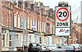 J3472 : 20 mph zone sign, Fitzroy Avenue, Belfast (March 2015) by Albert Bridge
