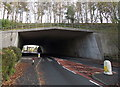 SS9580 : Under the M4 motorway, Pencoed by Jaggery