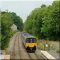 SK0181 : Train approaching Whaley Bridge Station, Derbyshire by Roger  Kidd