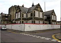SU1484 : Fenced-off former GWR Mechanics Institution, Swindon by Jaggery