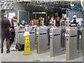 SJ8399 : Victoria Station Refurbishment, Installation of New Ticket Barriers by David Dixon
