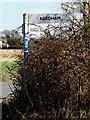 TM2283 : Roadsign on Upper Harman's Lane by Geographer