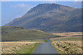SH6513 : Moorland road heading towards Tyrrau Mawr by Nigel Brown