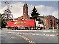 SJ8195 : HGV at Trafford Town Hall by David Dixon