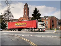SJ8195 : HGV at Trafford Town Hall by David Dixon