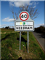TM2280 : Needham Village Name sign on The Street by Adrian Cable