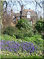 TQ3286 : Lodge seen from the entrance to Clissold Park by Marathon