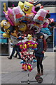SX4754 : Balloon seller on New George Street, Plymouth by Ian S