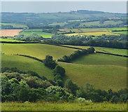 SS8928 : Clouds gathering near Chilcott, Somerset by Edmund Shaw