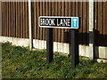 TM2281 : Brook Lane sign by Adrian Cable