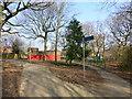 SJ5581 : Runcorn Cycleway sign at Murdishaw by Raymond Knapman