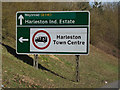TM2382 : Roadsign on the A143 Bungay Road by Geographer