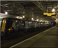 NS4864 : Gilmour Street railway station night scene by Thomas Nugent