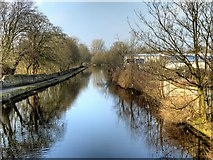 SD8538 : Leeds and Liverpool canal, View from Reedyford Bridge by David Dixon