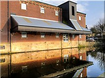 SD8538 : Loading Bay Canopy, Leeds and Liverpool Canal Warehouse, Nelson by David Dixon