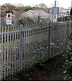 SM9703 : Stop - whistle before proceeding sign, Pembroke Dock by Jaggery