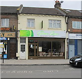 TQ2081 : Cafe, Horn Lane, North Acton by David Hawgood