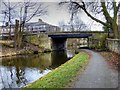 SD8433 : Leeds and Liverpool Canal, Godley Bridge by David Dixon