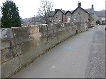 SK2572 : Cut Mark Old Bridge Baslow wider view by Monica Stagg