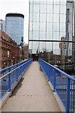 SP0687 : Footbridge over Queensway by Philip Halling