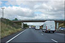 SK7667 : Bridge over A1 by Robin Webster
