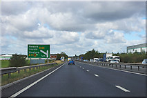 SK8155 : A1 - 1/2 mile to the A46 junction by Robin Webster